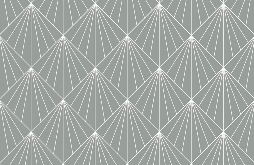 grey geometric art deco print wallpaper mural