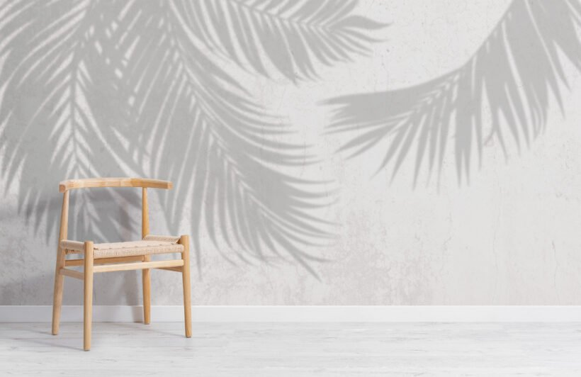 grey-palm-leaf-shadow-concrete-effect-wallpaper-mural