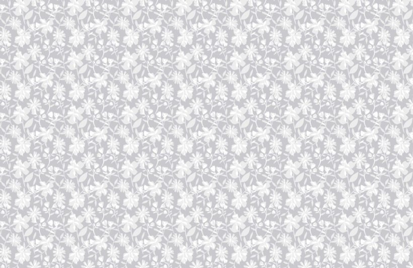 grey tones floral repeat pattern wallpaper