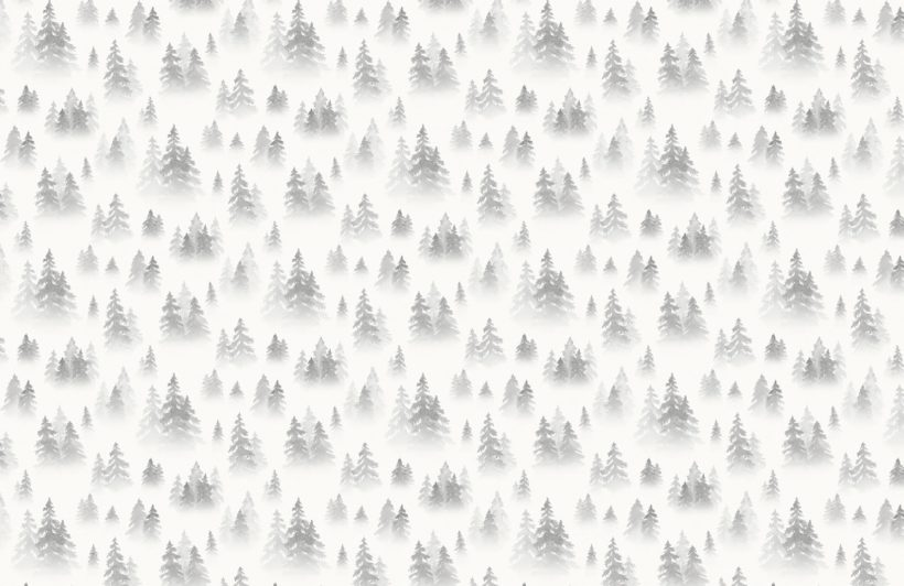 grey watercolour birch tree forest wallpaper mural