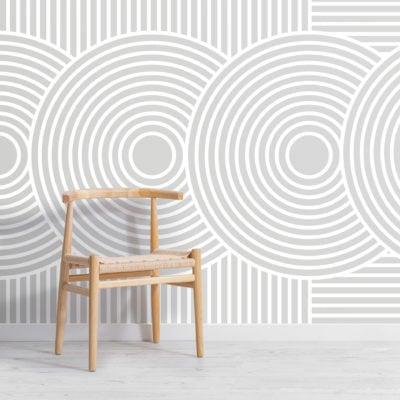 grey zen garden japanese geometric wallpaper mural