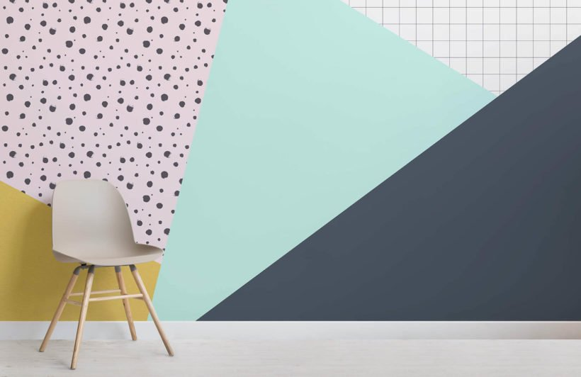 grid-and-dots-geometric-collection-room