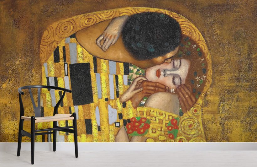 gustav-klimt-kiss-wall-mural-art-room-wall-murals