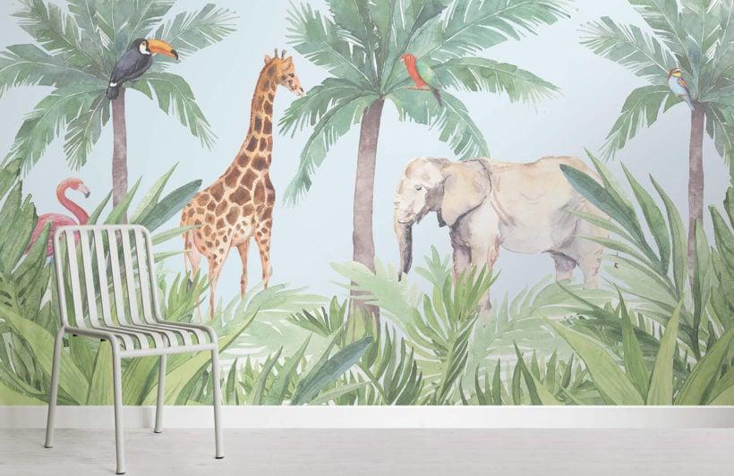 hidden paradise-nursery-room-wall mural-kj