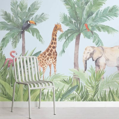 hidden paradise-nursery-square-wall mural-kj