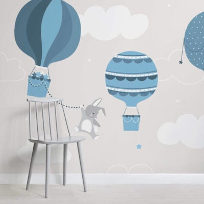 kids-blue-bunny-and-balloons-nursery-square-wall-mural