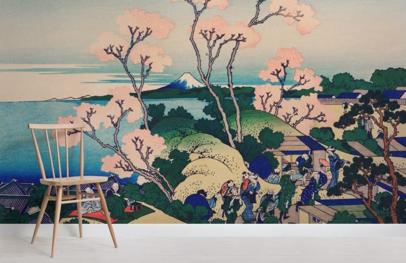 japanese cherry blossom tree sakura wallpaper mural