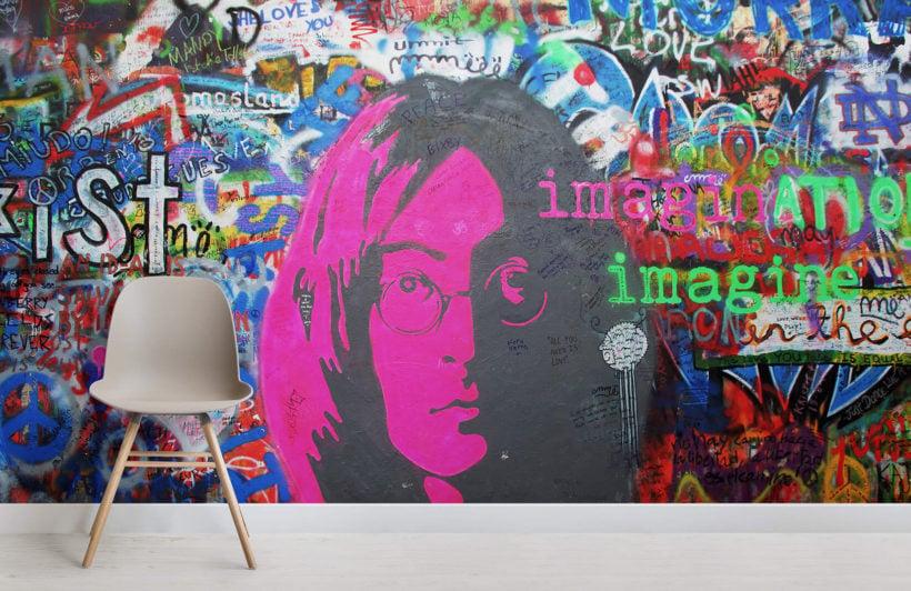 john-lennon-imagine-graffiti-room-wall-murals