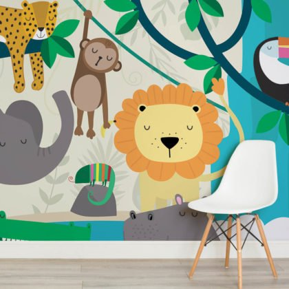 Jungle Friends Wallpaper Mural Image