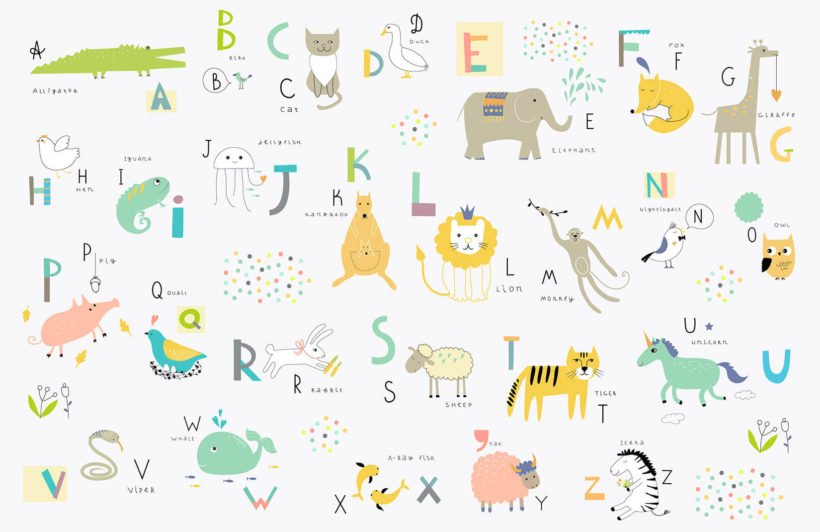 kids-alphabet-childrens-plain-wall-murals