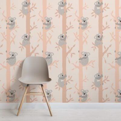 kids-cute-cartoon-koala-repeat-pattern-wallpaper
