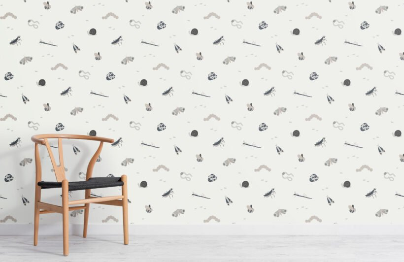 kids-monochrome-bugs-and-insects-repeat-pattern-wallpaper