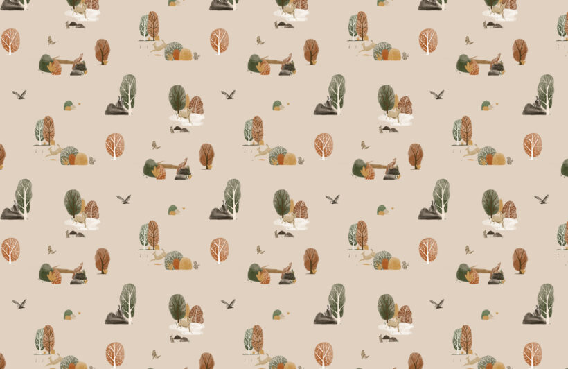 kids-painted-woodland-animals-repeat-pattern-wallpaper