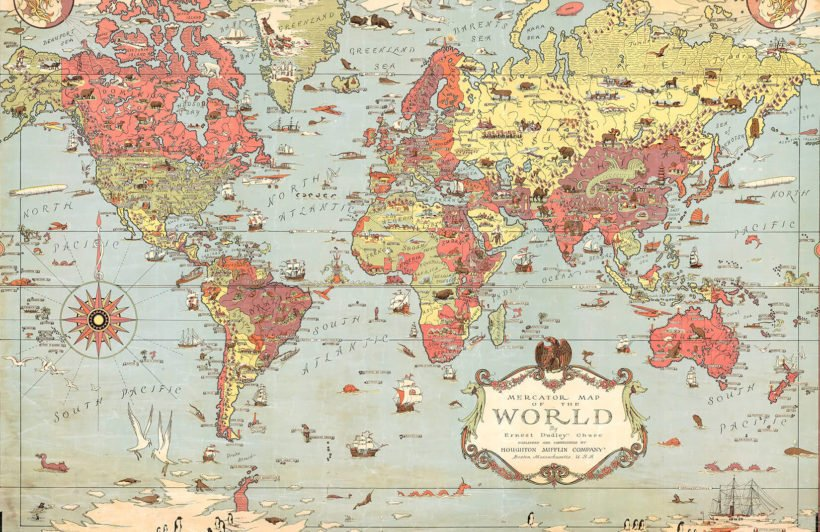 kids-vintage-world-map-plain-wall-murals