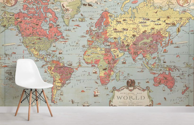 kids-vintage-world-map-room-wall-murals