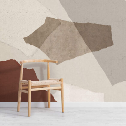 Large Neutral Terrazzo Inspired Wallpaper Mural Image