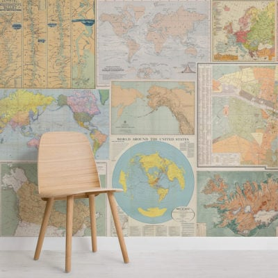 light-vintage-map-collage-square-1-wall-murals