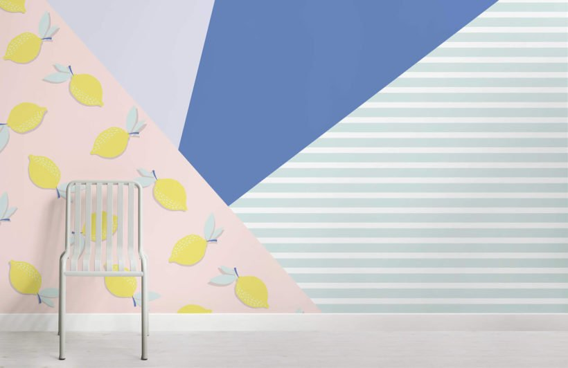 lil lemons-club tropicana-room-wall mural-kj