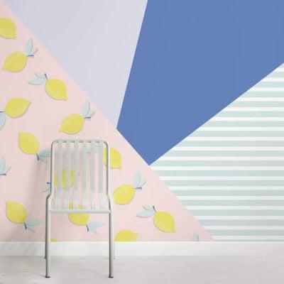 lil lemons-club tropicana-square-wall mural-kj
