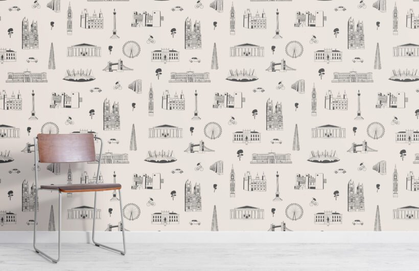 london-city-landmarks-grey-and-white-repeat-pattern-wallpaper