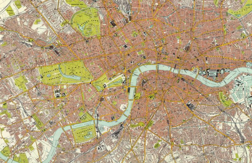 london-vintage-road-map-plain-wall-murals