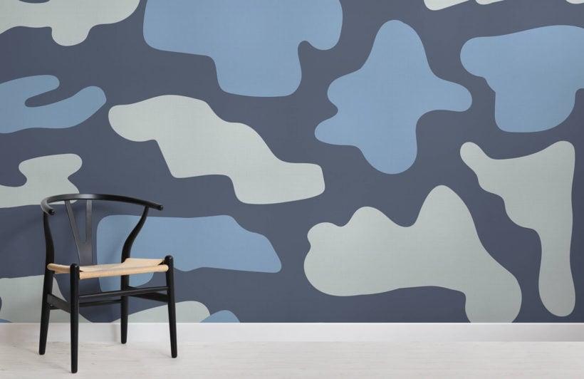 loyd-abstract camo-room-wall mural-kj