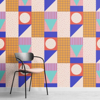 memphis-colourful-geoemtric-repeat-pattern-wallpaper-Square