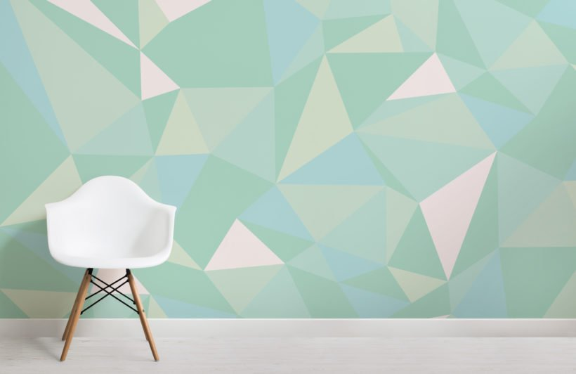 mint-green-geometric-wallpaper-mural