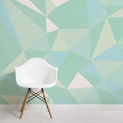 mint-green-geometric-wallpaper-mural