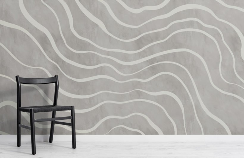 modern grey natural lines wallpaper mural
