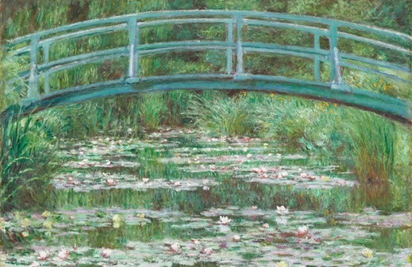monet lily pond painting art wallpaper mural