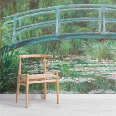 monet lily pond painting art wallpaper mural