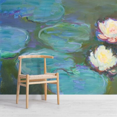 monet water lillies painting art wallpaper mural