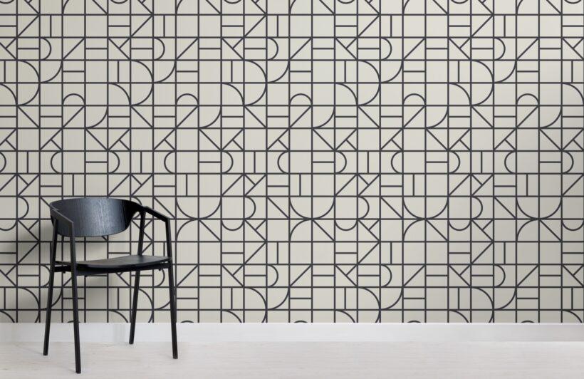 monochrome-modern-geometric-grid-repeat-pattern-wallpaper