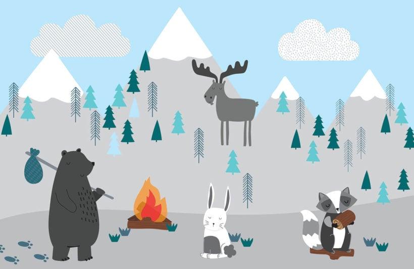 kids-mountain-scene-plain-wall-mural