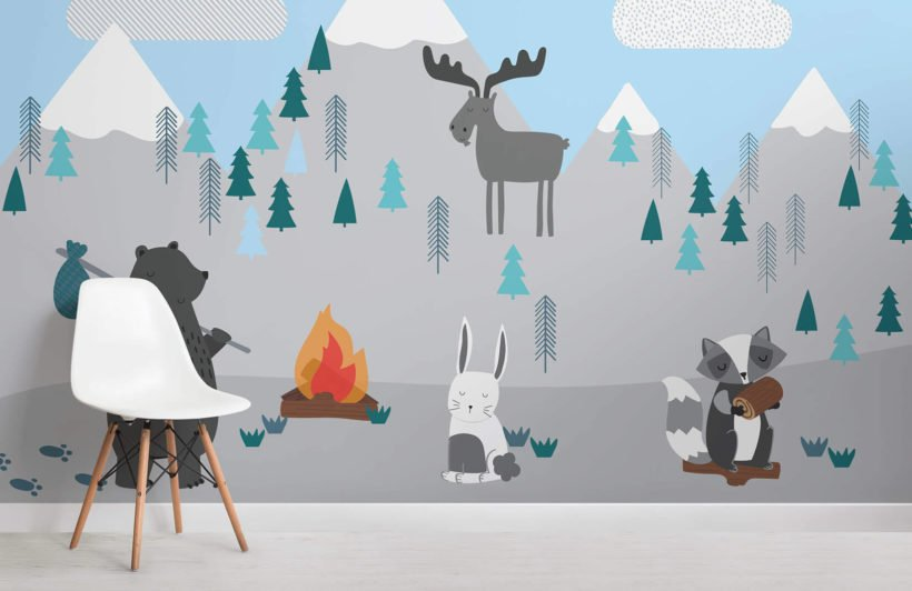kids-mountain-scene-room-wall-mural