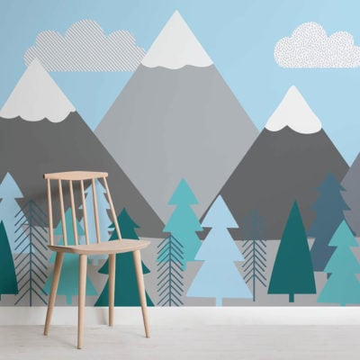 kids-mountains-and-trees-square-wall-mural