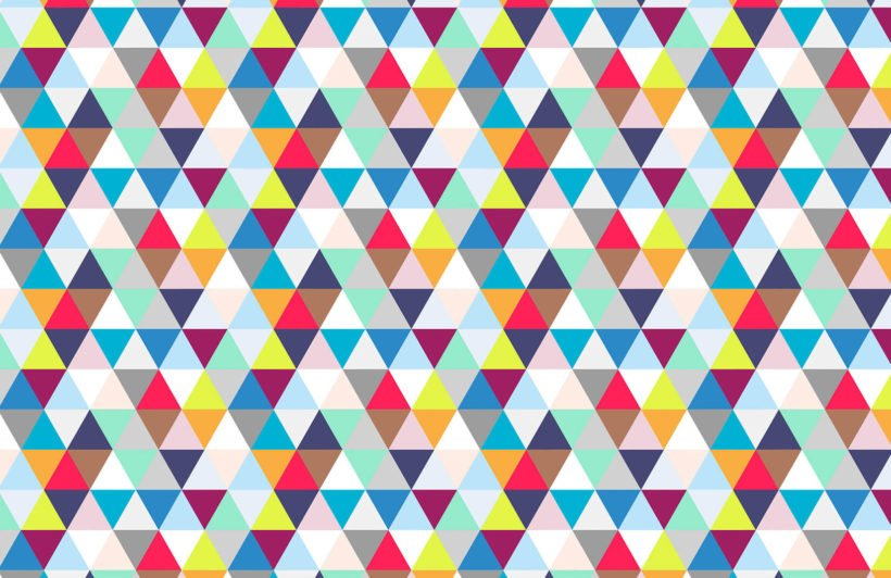 multicoloured-triangles-plain-wall-murals