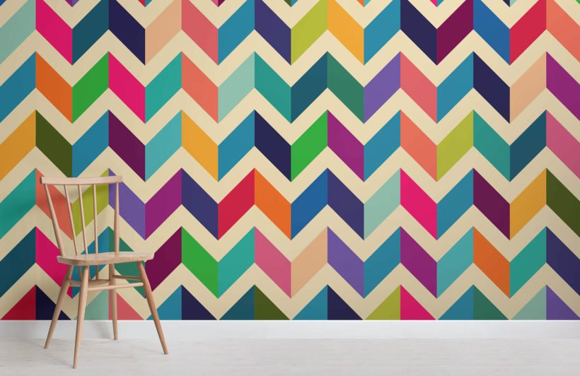 multicoloured-zig-zag-room-wall-murals