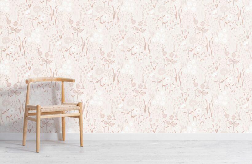 natural-pink-botanical-flowers-repeat-pattern-wallpaper