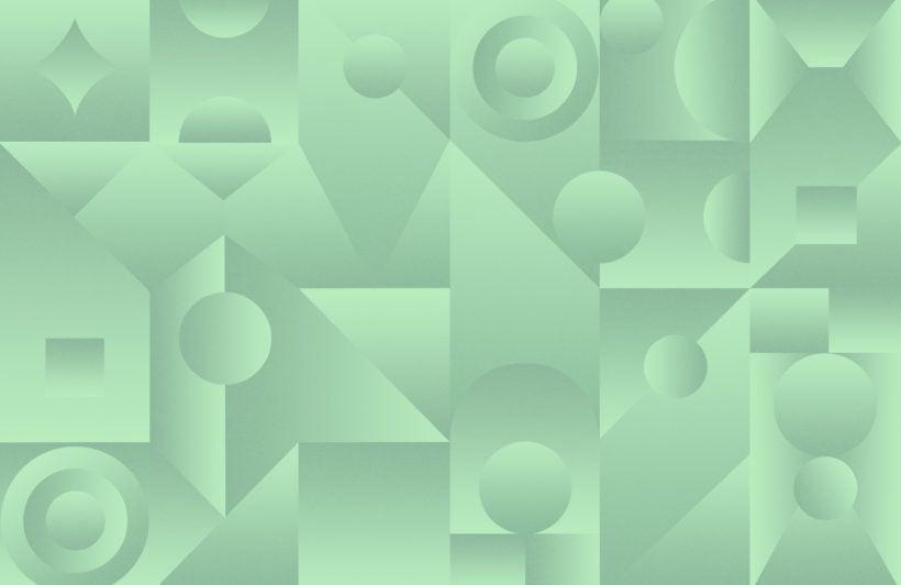 neo green abstract shape gradient wallpaper mural