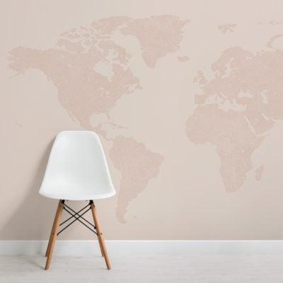 neutral abstract vector world map wallpaper mural