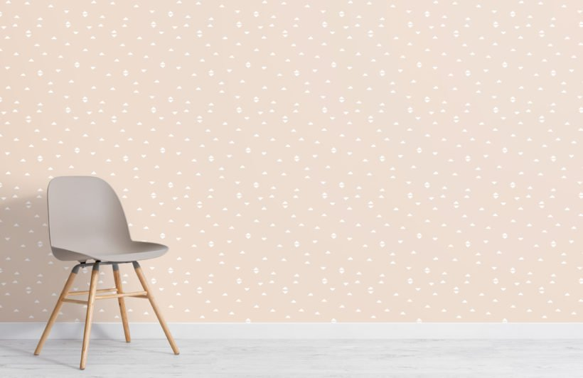 neutral boho triangle repeat pattern wallpaper