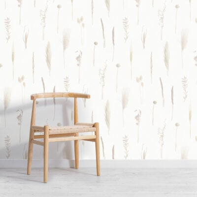 neutral-dried-flowers-botanical-repeat-pattern-wallpaper