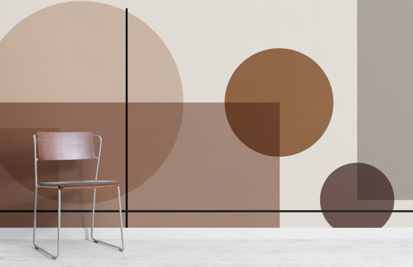 neutral-mid-century-abstract-geometric-wallpaper-mural
