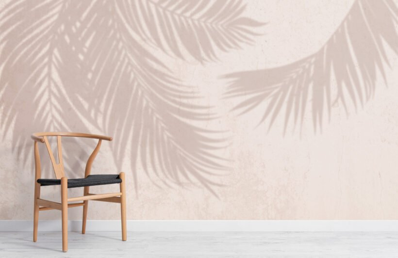 neutral-palm-leaf-shadow-concrete-effect-wallpaper-mural