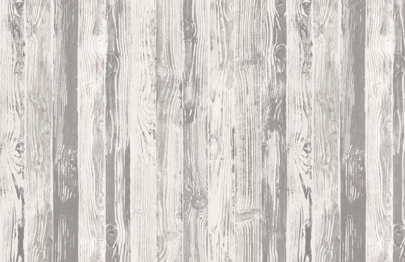 neutral printed wood panel effect wallpaper mural