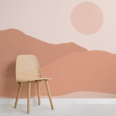 neutral-tone-indian-summer-calming-landscape-wallpaper-mural
