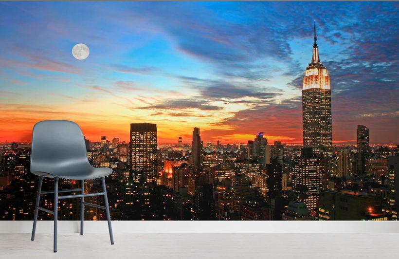 new-york-sunset-room-wall-murals