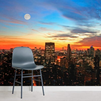 new-york-sunset-square-wall-murals